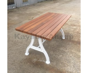 PM-112 döküm ayaklı dekoratif dış mekan bahçe masa